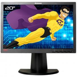"Ecran PC Pro 20"" LENOVO L200pwD 4438-HB6 43R1950 TFT VGA DVI-D 4:3 1600x1200"