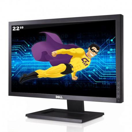 "Ecran PC 22"" DELL E2210F 001YPP7 TFT TN VGA DVI-D VESA 1680x1050 16:10 Wide"