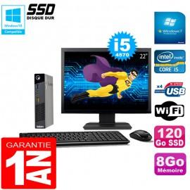 """Ultra Mini PC Lenovo M73 USFF Tiny I5-4570 8Go 120Go SSD Wifi W7 Ecran 22"""""""