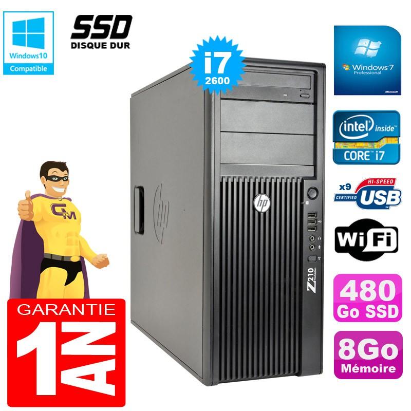 PC-Tour-HP-WorkStation-Z210-I7-2600-RAM-8Go-Disque-480Go-SSD-Graveur-DVD-Wifi-W7