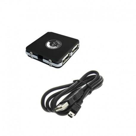 Mini Hub USB Point of View 4 Ports USB 2.0 Cable PC Portable NEUF