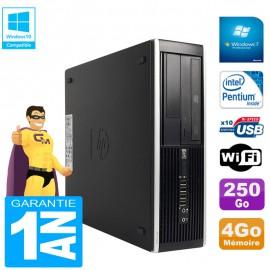 PC HP Compaq Pro 6300 SFF G630 RAM 4Go Disque 250Go Graveur DVD Wifi W7