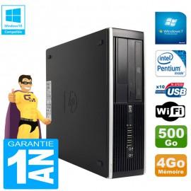 PC HP Compaq Pro 6300 SFF G630 RAM 4Go Disque 500Go Graveur DVD Wifi W7