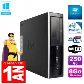 PC HP Compaq Pro 6300 SFF G630 RAM 8Go Disque 250Go Graveur DVD Wifi W7