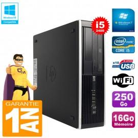 PC HP Compaq Pro 6300 SFF I5-2400 RAM 16Go Disque 250Go Graveur DVD Wifi W7