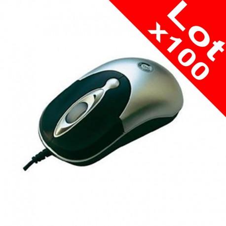 Lot x100 Mini Souris Optique Filaire USB Point of View R-720172-1 PC Portable