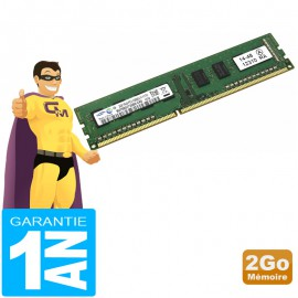2Go RAM Samsung M378B5773SB0-CK0 DDR3 PC3-12800U 1600Mhz 1Rx8 CL11 PC Bureau