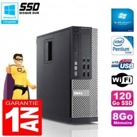 PC DELL 790 SFF Intel G840 Ram 8Go Disque 120Go SSD Graveur Wifi W7