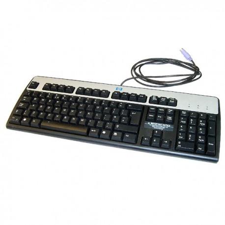 Clavier PC AZERTY Noir Argent PS/2 HP SDL4000 352750-051 355630-051 105 Touches