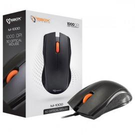 Souris Optique Filaire USB SBOX M-1000 3 Boutons 1000-DPI Noir Orange Mouse NEUF