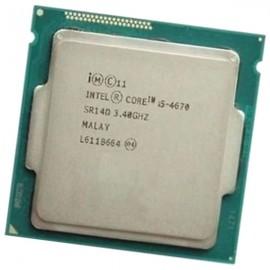 Processeur CPU Intel 4 Core I5-4670 SR14D 3.40Ghz FC-LGA 1150 6Mo 5GT/s Haswell