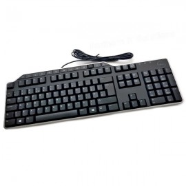 Clavier PC Filaire AZERTY Noir USB Dell KB522 054NJW 54NJW 108 Touches Keyboard