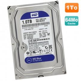 """Disque Dur 1To Western Digital Blue SATA III 3.5"""" WD10EZEX-00WN4A0 7200RPM 64Mo"""