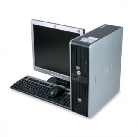 "Lot PC HP Compaq DC5750 SFF AMD Sempron 2Ghz 2Go DDR2 80Go XP Pro + Ecran 17"""