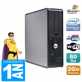 PC Dell Optiplex GX520 SFF Pentium D Ram 2Go Disque 80Go Windows XP Pro