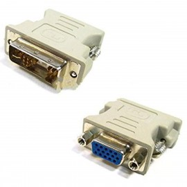 Adaptateur DVI-A Mâle vers VGA Femelle DB-15 Dell 0J8461 J8461 Beige