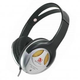 Ecouteurs SONCM SM-215MV Dynamic Headphone Jack 3.5 2-4m 230g Noir Argenté NEUF