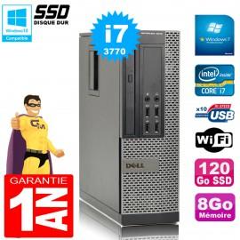 PC DELL 7010 SFF Core I7-3770 Ram 8Go Disque 120Go SSD Graveur DVD Wifi W7