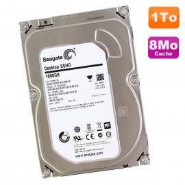 """Disque Dur 1To SATA 3.5"""" Seagate Desktop SSHD ST1000DX001 1NS162-500 7200RPM 8Mo"""