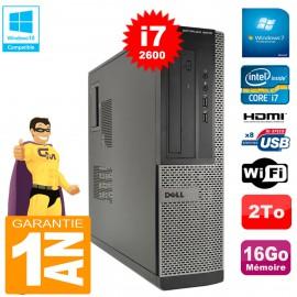 PC DELL 3010 DT Core I7-2600 Ram 16Go Disque 2 To Graveur DVD Wifi W7