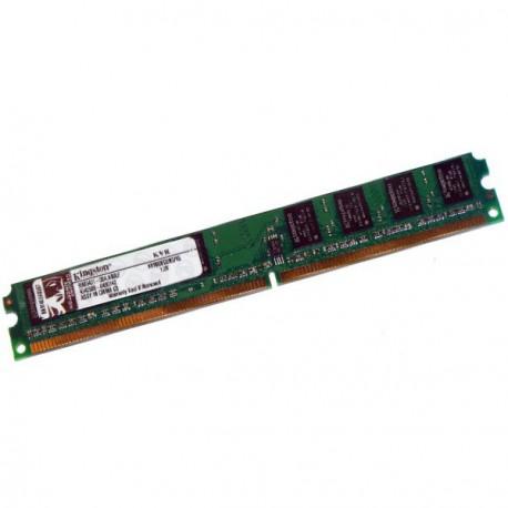 Ram Barrette Mémoire Kingston 1Go DDR2 PC-6400 800Mhz KVR800D2N5/1G Low Profile