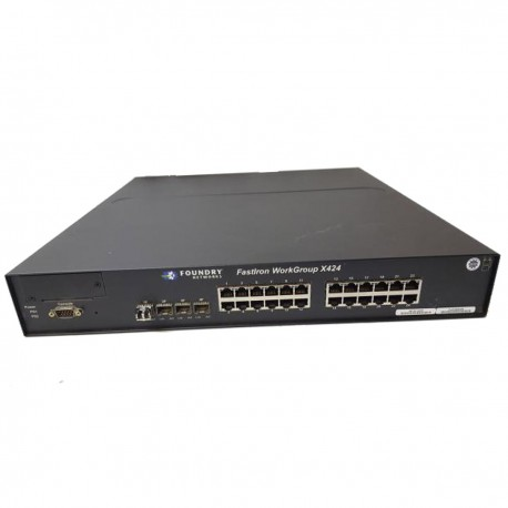 Switch FOUNDRY Networks Fastlron WorkGroup X424 4x SFP 24x RJ45 1000Mbps 1x DB-9