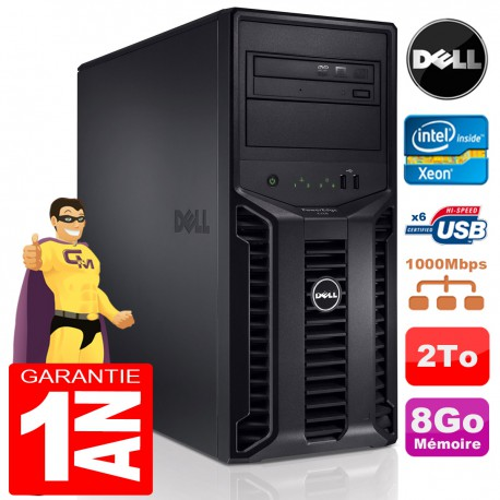 Serveur DELL PowerEdge T110 Xeon Quad Core X3430 2.40Ghz RAM 8Go Disque 2To SATA