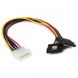 Câble Doubleur Molex Mâle vers 2x SATA 22cm Alimentation