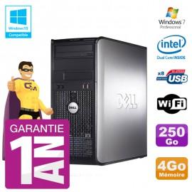 PC DELL 780 Tour Intel E5800 RAM 4Go Disque 250Go Graveur DVD Wifi W7