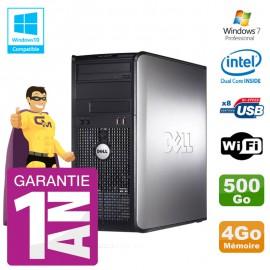 PC DELL 780 Tour Intel E5800 RAM 4Go Disque 500Go Graveur DVD Wifi W7