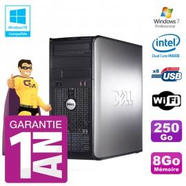 PC DELL 780 Tour Intel E5800 RAM 8Go Disque 250Go Graveur DVD Wifi W7