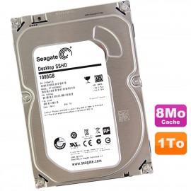 "Disque Dur 1To SATA 3.5"" Seagate Desktop SSHD ST1000DX001 1CM162-500 7200RPM 8Mo"