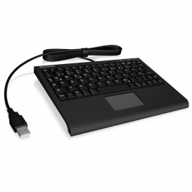 Mini Clavier AZERTY KeySonic ACK-340U+ TouchPad USB 2.0 77 Touches Mini KeyBoard