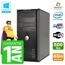 PC DELL 755 Tour Intel E5200 RAM 4Go Disque 500Go Graveur DVD Wifi W7