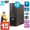 PC Fujitsu Esprimo C720 SFF Core I5-4570 8Go 240Go SSD Graveur DVD Wifi W7