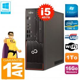 PC Fujitsu Esprimo C720 SFF Core I5-4570 16Go 1To Graveur DVD Wifi W7