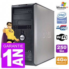 PC DELL 745 Tour Intel E2160 RAM 4Go Disque 250Go Windows XP Pro