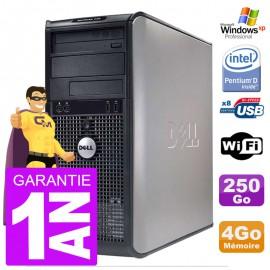 PC DELL 745 Tour Intel E2160 RAM 4Go Disque 250Go Graveur DVD Wifi XP Pro