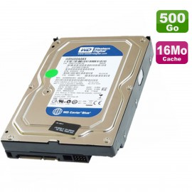 """Disque Dur 500Go SATA 3.5"""" Western Digital Blue WD5000AAKX-00ERMA0 7200RPM 16Mo"""