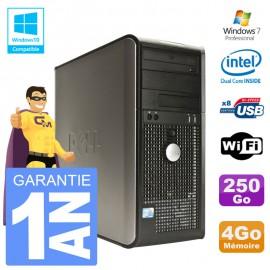 PC DELL 760 Tour Intel E5200 RAM 4Go Disque 250Go Graveur DVD Wifi W7