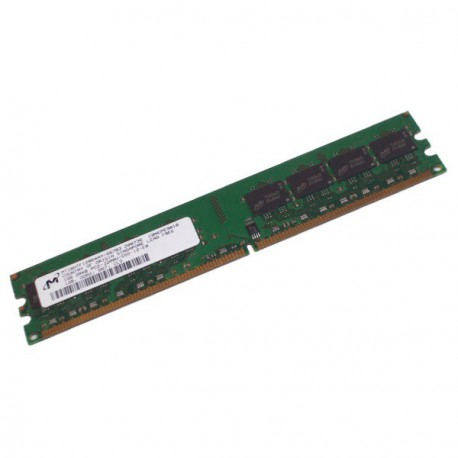 Ram Barrette Mémoire MICRON 256MB DDR2 PC-4200U MT4HTF3264AY-53EB2 Unbuffered