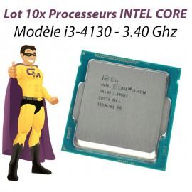 Lot x10 Processeurs CPU Intel Dual Core I3-4130 3.4Ghz 3Mo 5GT/s FCLGA1150 SR1NP
