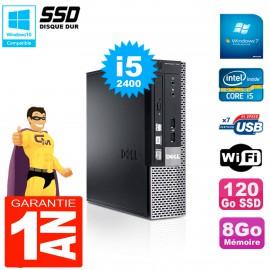 Mini PC Dell 790 Ultra USFF Core I5-2400 8Go 120Go SSD Wifi W7