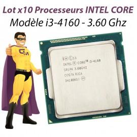 Lot x10 Processeurs CPU Intel Dual Core I3-4160 3.6Ghz 3Mo 5GT/s LGA1150 SR1PK