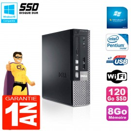 Mini PC Dell 790 Ultra USFF Intel G630 8Go 120Go SSD Wifi W7