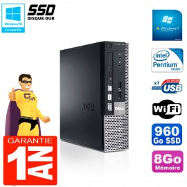 Mini PC Dell 790 Ultra USFF Intel G630 8Go 960Go SSD Wifi W7