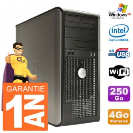 PC DELL 380 Tour Intel E5200 RAM 4Go Disque 250Go Windows XP Pro Graveur DVD