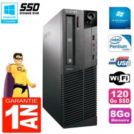 PC Lenovo M91p 7005 SFF Intel G630 8Go Disque 120Go SSD Graveur DVD Wifi W7