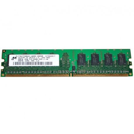 Ram Barrette Mémoire MICRON 256MB DDR2 PC2-3200U MT8HTF3264AY-40EB3 1Rx8 CL3 PC