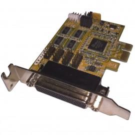 Carte 4x RS-232 Parallèle EXSYS EX-44374 602809-001 PCI-Express x16 Low Profile